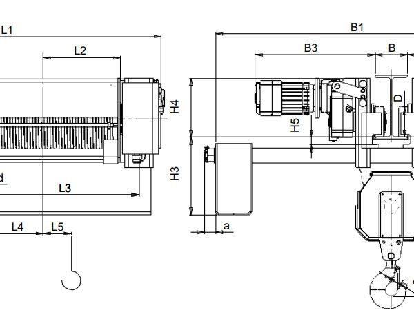 Таль электрическая канатная ЭЛМОТ CVAT - 4