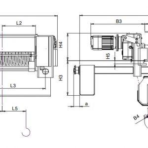 Таль электрическая канатная ЭЛМОТ CVAT - миниатюра фото 4