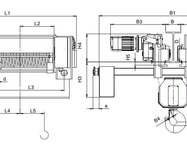Таль электрическая канатная ЭЛМОТ CVAT - 3