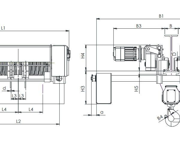 Таль электрическая канатная ЭЛМОТ CVAT - 2