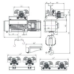 Таль электрическая канатная ЭЛМОТ HVAT - миниатюра фото 5