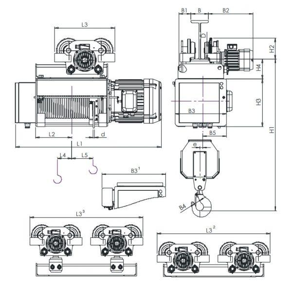 Таль электрическая канатная ЭЛМОТ HVAT - 4
