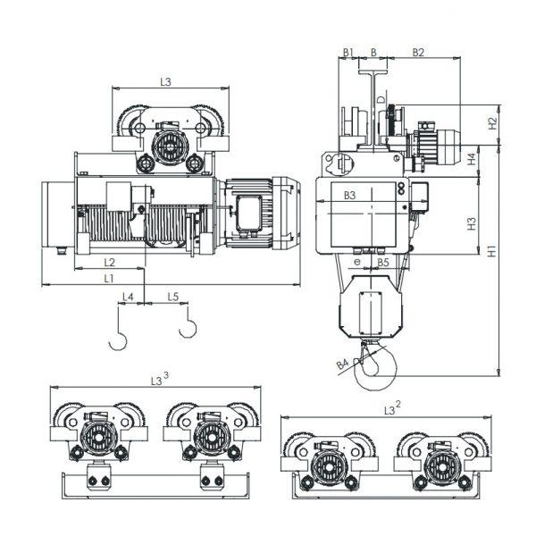Таль электрическая канатная ЭЛМОТ HVAT - 3