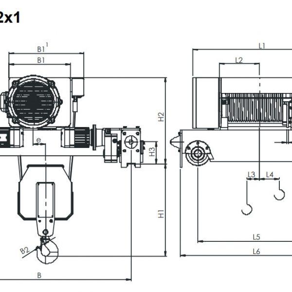 Таль электрическая канатная ЭЛМОТ KVAT - 4