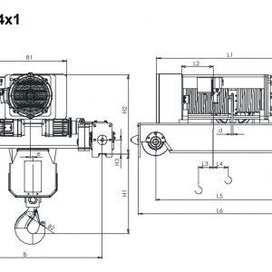 Таль электрическая канатная ЭЛМОТ KVAT - миниатюра фото 4