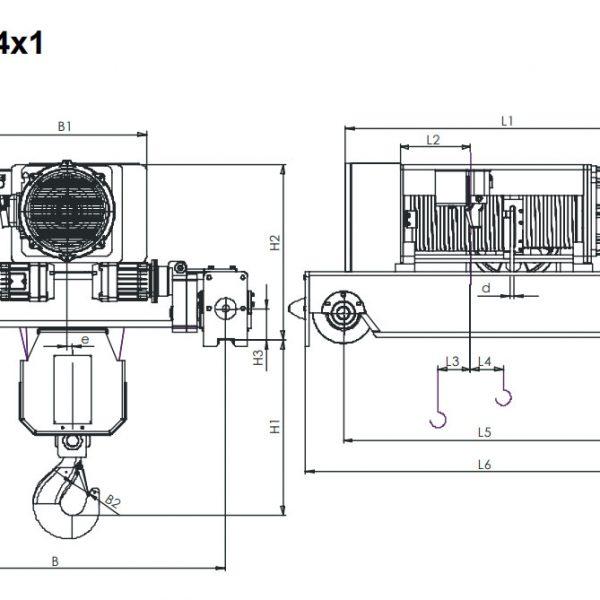 Таль электрическая канатная ЭЛМОТ KVAT - 3