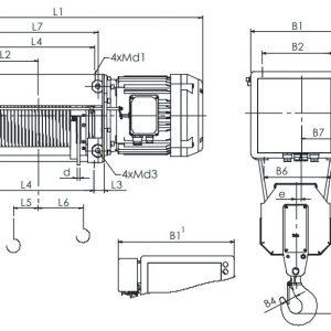Таль электрическая канатная ЭЛМОТ VAT - миниатюра фото 3