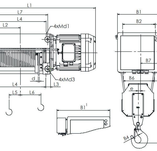 Таль электрическая канатная ЭЛМОТ VAT - 2