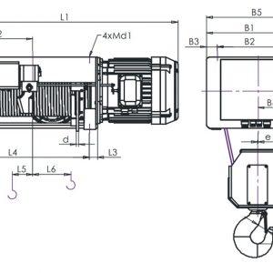 Таль электрическая канатная ЭЛМОТ VAT - миниатюра фото 6