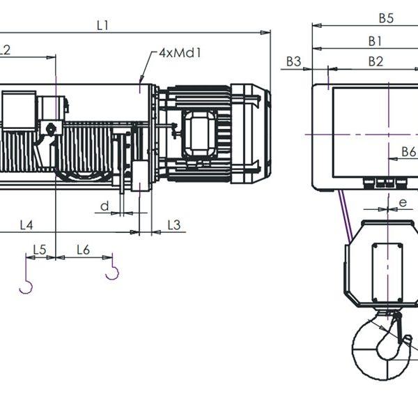 Таль электрическая канатная ЭЛМОТ VAT - 5