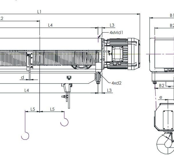 Таль электрическая канатная ЭЛМОТ VAT - 4