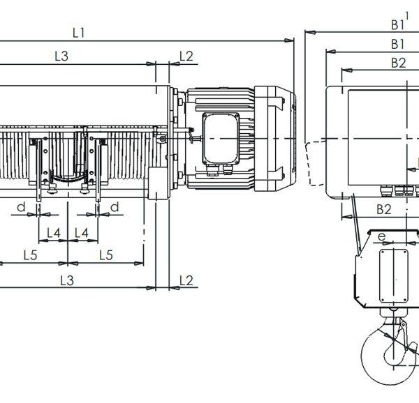 Таль электрическая канатная ЭЛМОТ VAT - 3