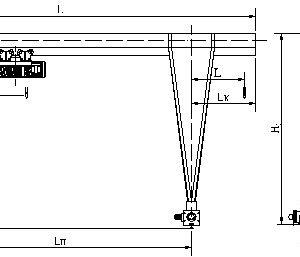 Кран козловой электрический однобалочный ЭЛЕКТРОТЯЖКРАН - миниатюра фото 3