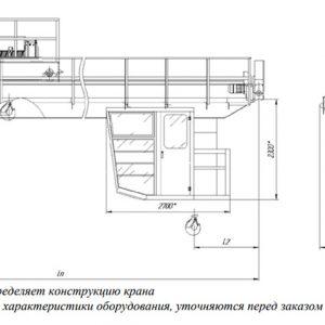 Кран мостовой двухбалочный легких и средних режимов ЭЛЕКТРОТЯЖКРАН - миниатюра фото 3