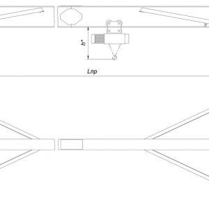 Кран мостовой однобалочный опорный электрический ЭЛЕКТРОТЯЖКРАН - миниатюра фото 3