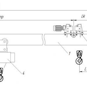 Кран мостовой однобалочный подвесной электрический ЭЛЕКТРОТЯЖКРАН - миниатюра фото 3