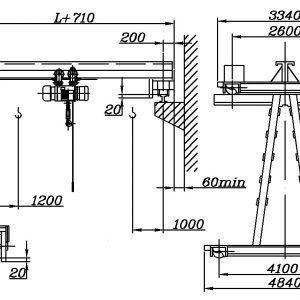 Кран полукозловой электрический ЭЛЕКТРОТЯЖКРАН - миниатюра фото 3