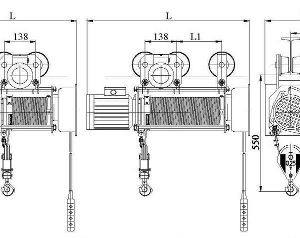 Таль электрическая канатная Алтайталь серия Т - 2
