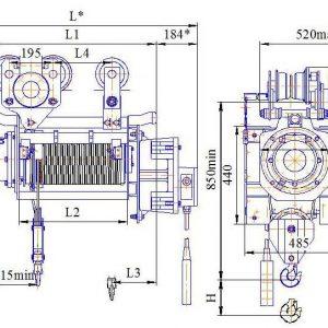 Таль электрическая канатная Алтайталь серия ВТЭ - миниатюра фото 3