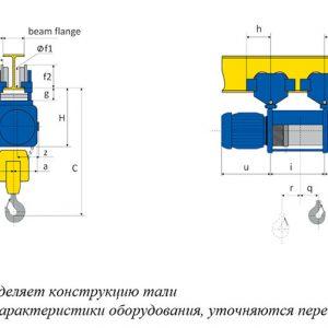 Таль электрическая канатная передвижная PODEM MT/M - миниатюра фото 3