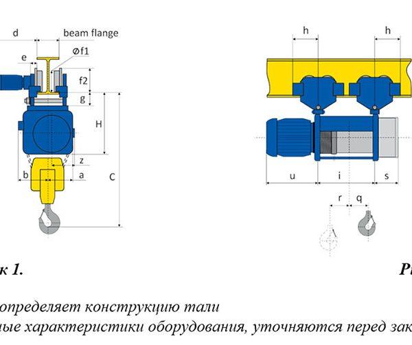 Таль электрическая канатная передвижная PODEM MT/M - 2