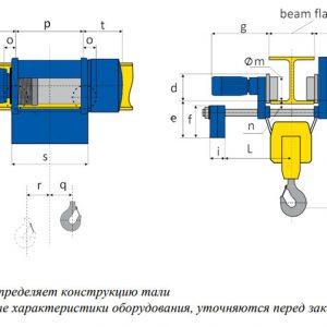 Таль электрическая канатная с уменьшенной строительной высотой PODEM MT/M - миниатюра фото 3