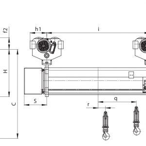 Таль электрическая с увеличенной высотой подъема PODEM MTL - миниатюра фото 3