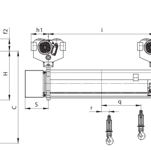 Таль электрическая с увеличенной высотой подъема PODEM MTL (Подемкран) - 2