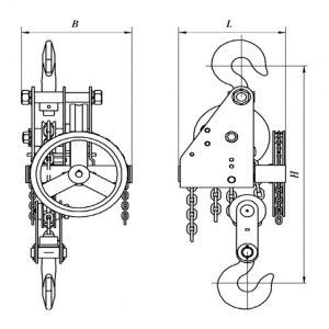 Таль ручная цепная червячная стационарная ККЗ ТРЧС - миниатюра фото 3