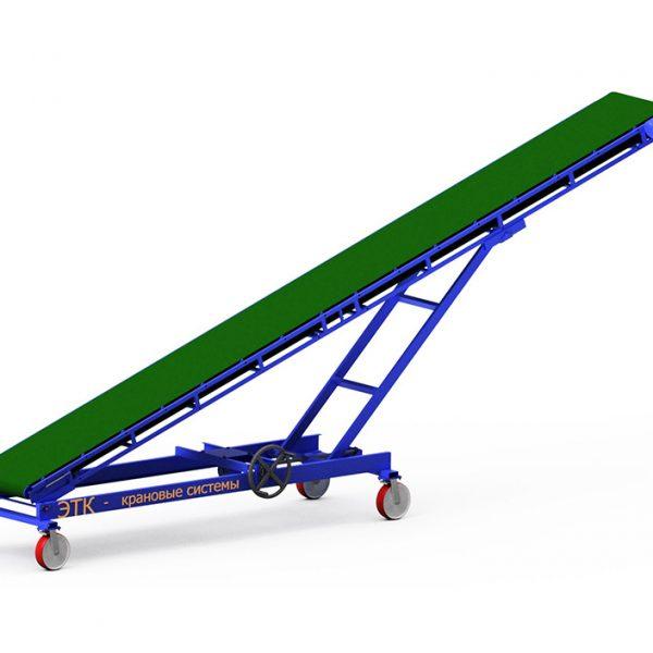 Наклонный ленточный конвейер с плавной регулировкой угла наклона - 4