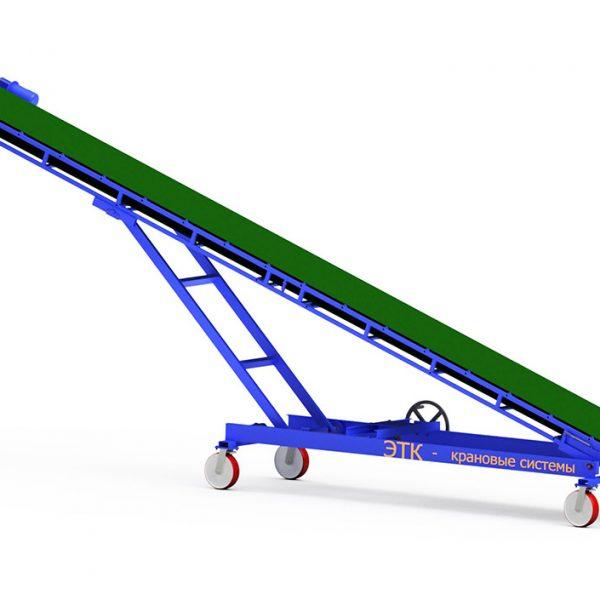 Наклонный ленточный конвейер с плавной регулировкой угла наклона - 5