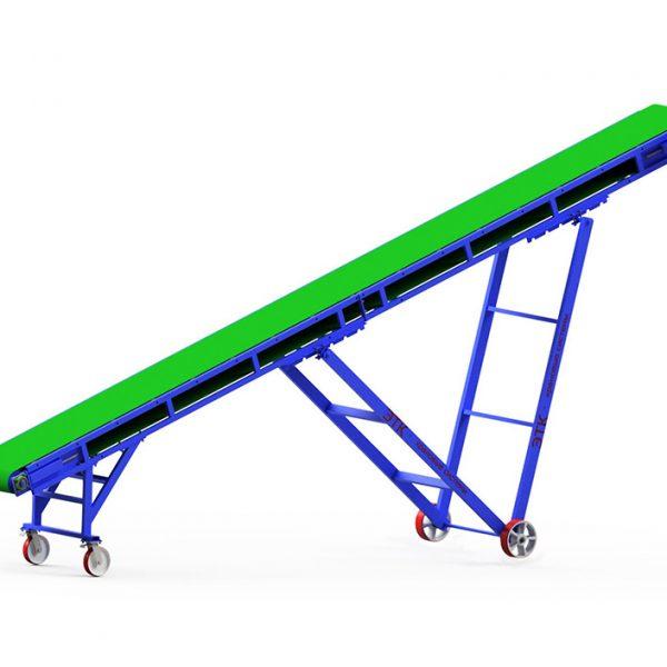 Наклонный ленточный конвейер с V-образными опорами и регулировкой угла наклона - 1