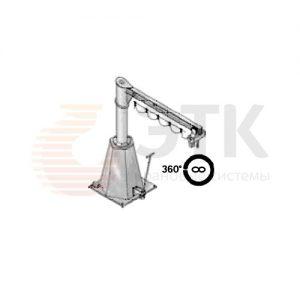 Кран консольный передвижной на колонне свободностоящий поворотный с ручным приводом - миниатюра фото 2