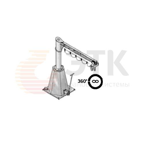 Кран консольный передвижной на колонне свободностоящий поворотный с ручным приводом - 1