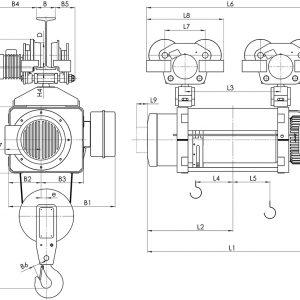 Таль электрическая канатная передвижная Балканское Эхо МТ ED двухрельсовая - миниатюра фото 3