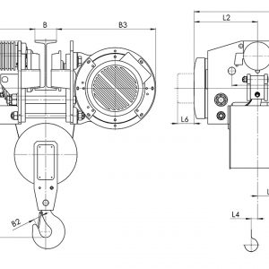 Таль электрическая канатная передвижная Балканское Эхо Т45/Т78 УСВ - миниатюра фото 3