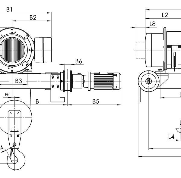 Таль электрическая канатная передвижная Балканское Эхо Т81/Т82 двухрельсовая - 2