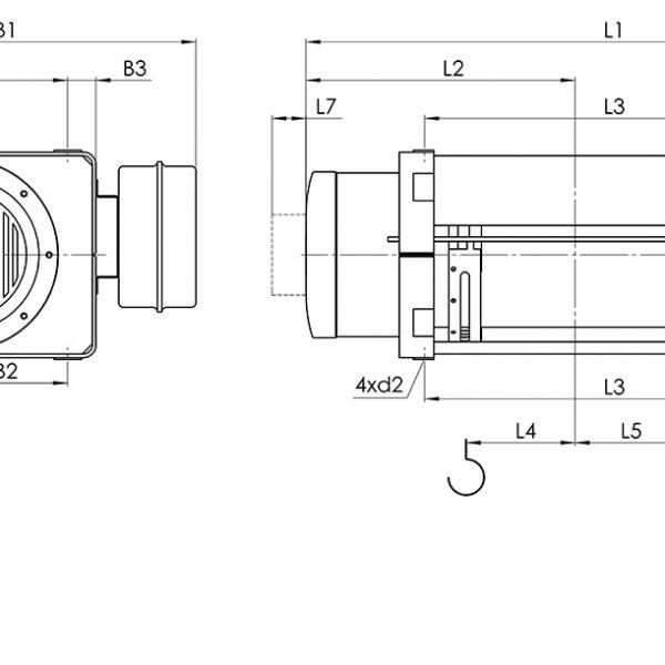 Таль электрическая канатная стационарная Балканское Эхо МТ - 2