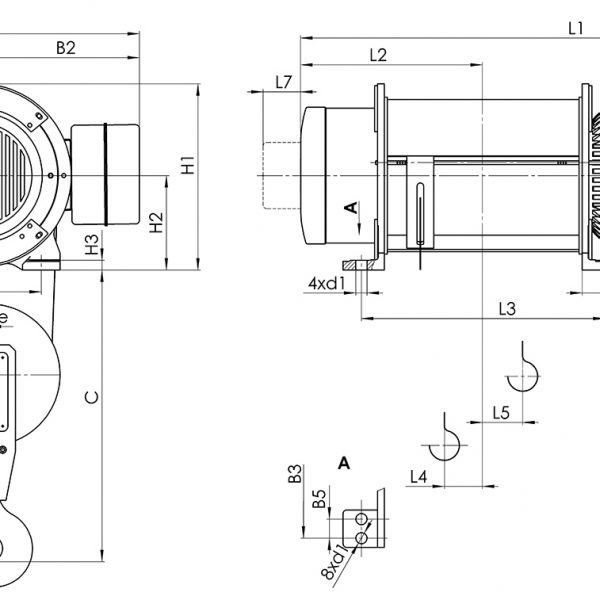 Таль электрическая канатная стационарная Балканское Эхо Т01/Т02/Т17/Т35 - 2
