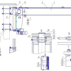 Кран консольный электрический стационарный настенный СВПК ККМ - миниатюра фото 4