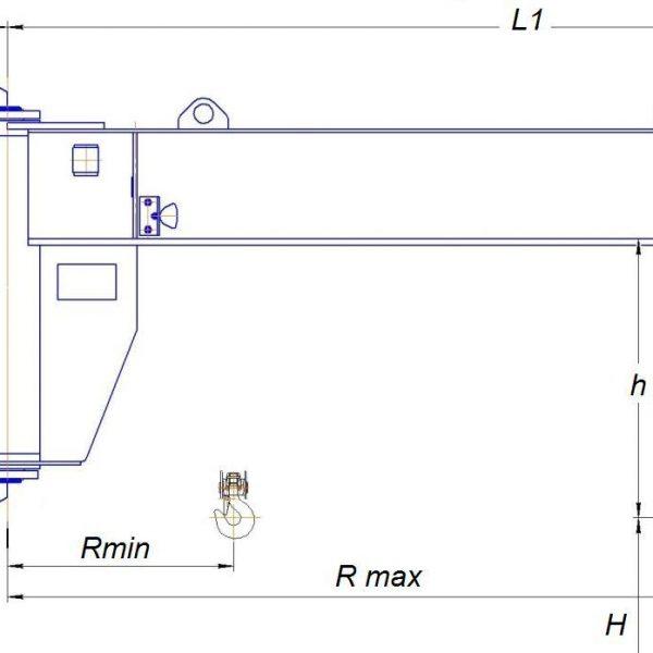 Кран консольный электрический стационарный настенный СВПК ККМ - 2