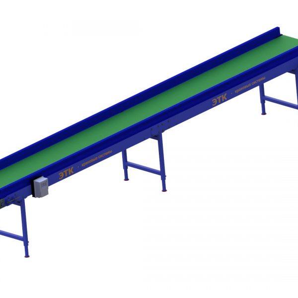 Ленточный горизонтальный конвейер для лёгких грузов - 4