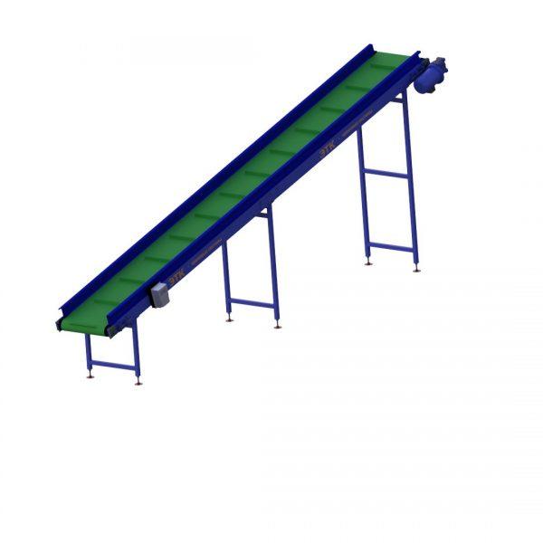 Ленточный наклонный конвейер для лёгких грузов - 1
