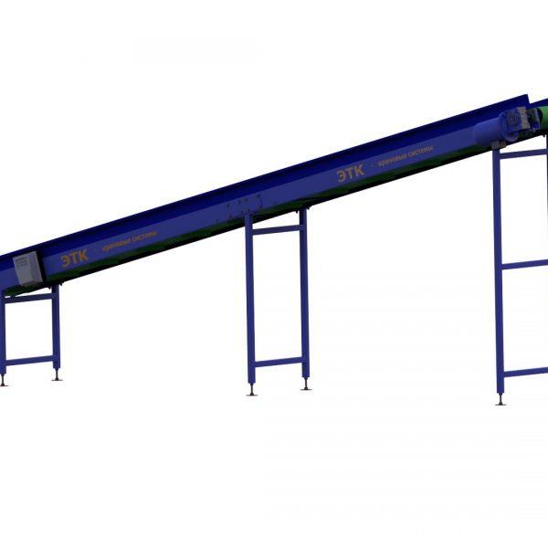 Ленточный наклонный конвейер для лёгких грузов - 3