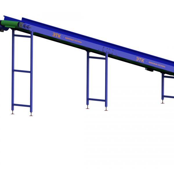 Ленточный наклонный конвейер для лёгких грузов - 4