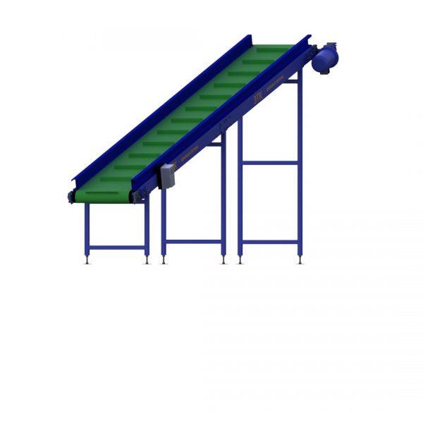 Ленточный наклонный конвейер для лёгких грузов - 5