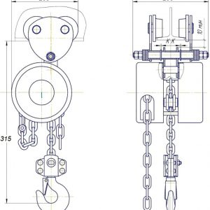 Таль ручная цепная передвижная шестеренная СВПК ТРШАК - миниатюра фото 3