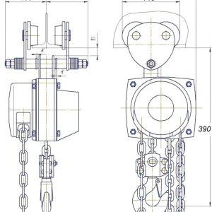 Таль ручная цепная передвижная шестеренная СВПК ТРШАМ - миниатюра фото 3