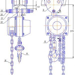 Таль ручная цепная передвижная шестеренная СВПК ТРШАп - миниатюра фото 3