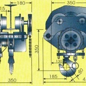 Таль ручная цепная передвижная шестеренная СВПК ТРШБУ - миниатюра фото 3